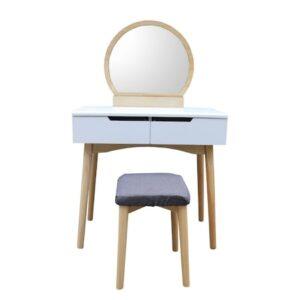 Masuta toaleta cu oglinda si taburet Camille