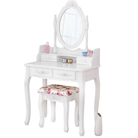 Masuta de toaleta / birou 2 in 1 cu oglinda machiaj